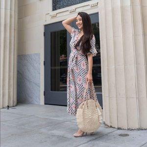 Dresses & Skirts - Brand new printed midi dress with belt tie